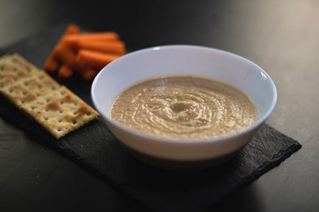 Hummus de lentejas con