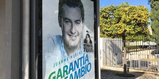 Cartel de Juanma Moreno, candidato del