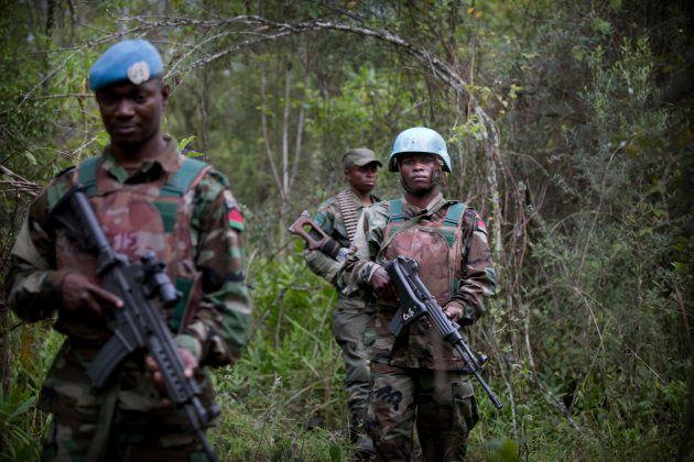 Cascos azules de MONUSCO realizan operaciones conjuntas cerca de Tongo, este de la República Democrática...