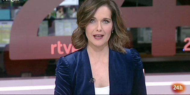 Raquel Martínez, presentadora del 'Canal 24 Horas de