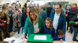 Gritos de un apoderado de VOX a Díaz cuando votaba: