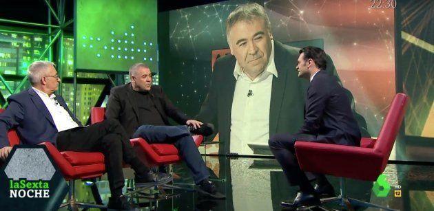 Antonio García Ferreras, entrevistado en 'LaSexta Noche' por Iñaki López y Javier