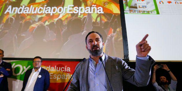 El líder de Vox, Santiago Abascal, este