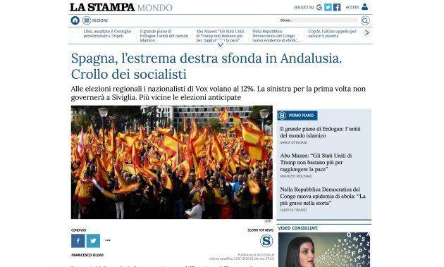 Captura del diario 'La