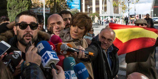 El humorista Dani Mateo, en los juzgados de Plaza de Castilla de