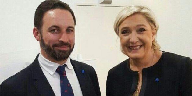 Santiago Abascal y Marine Le Pen en abril de