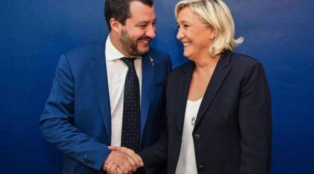 Salvini y Le Pen, que quieren fundar una alianza