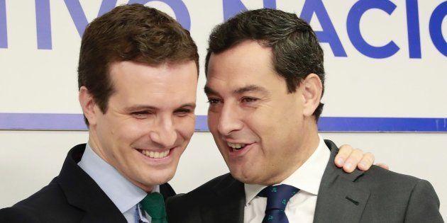 Pablo Casado y Juanma Moreno, reunidos hoy en