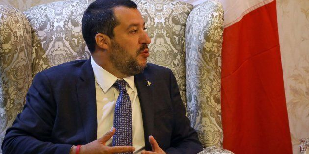 El ministro del Interior, Matteo Salvini, este lunes en