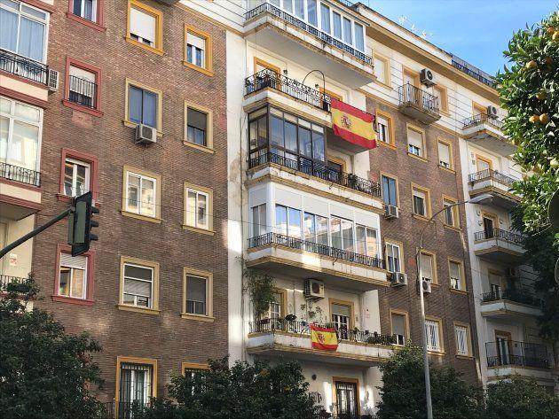 Balcones en Sevilla tras la victoria de Vox en las elecciones
