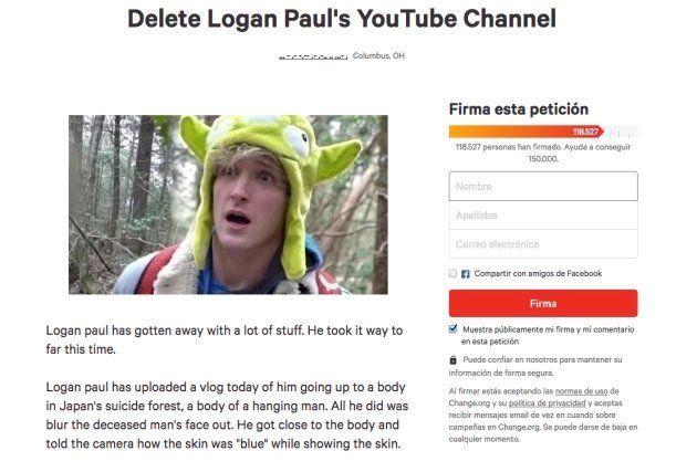 YouTube se pronuncia sobre el vídeo de Logan Paul riéndose ante un hombre