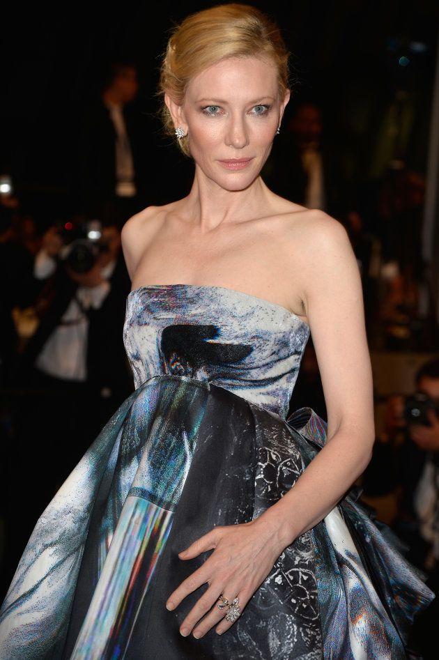 La actriz, durante la presentación de 'Carol' en la alfombra roja de Cannes en