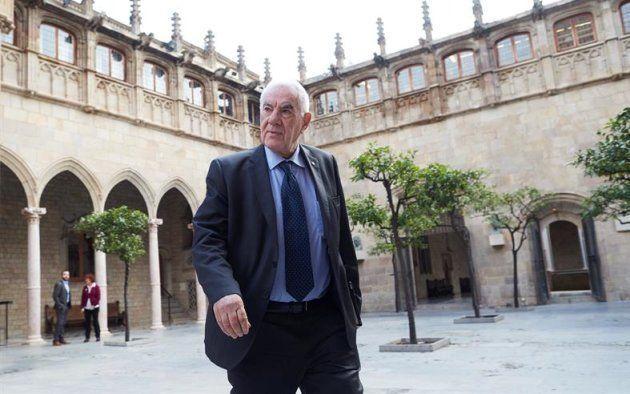 El conseller de Exteriores de la Generalitat, Ernest Maragall, a su llegada a la reunión semanal del...