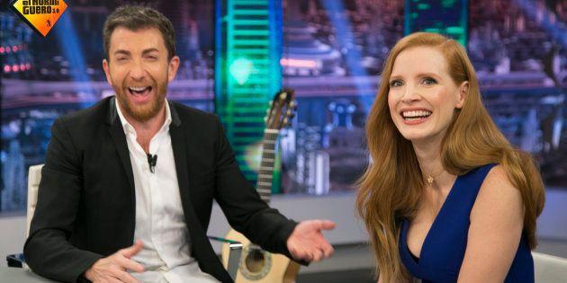Jessica Chastain matiza en directo a Pablo Motos tras esta pregunta sobre igualdad en 'El