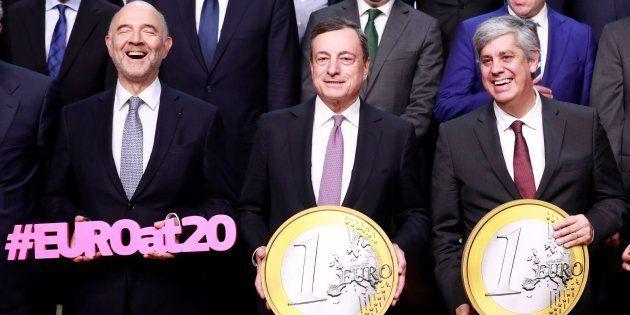 Fotografía oficial del Eurogrupo de este