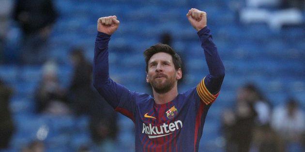 Messi, durante el partido entre el Madrid y el