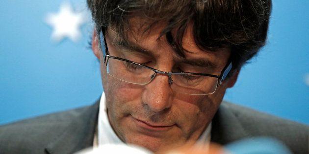 Carles Puigdemont durante una conferencia de prensa desde Bruselas, en una imagen de