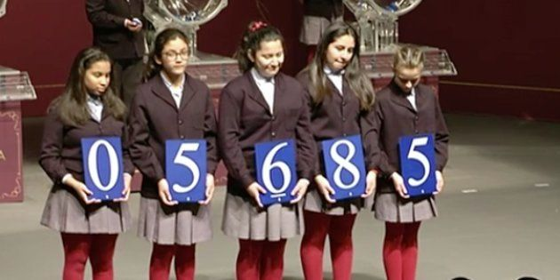 El 5.685, primer premio de la Lotería de El