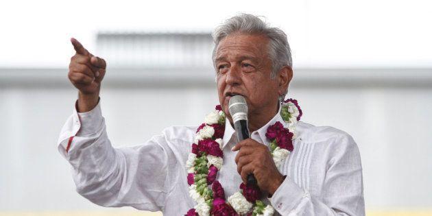 Andrés Manuel López Obrador, durante un acto de campaña en