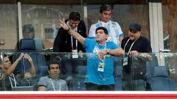 El detalle en esta foto de Maradona que más se está
