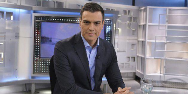 Pedro Sánchez, en el plató de Informativos