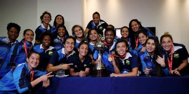 Las futbolistas del Atlético Huila, ganadoras de la Copa