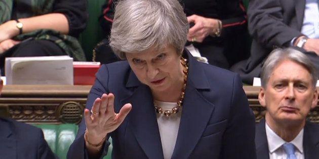 Theresa May el pasado martes en el Parlamento