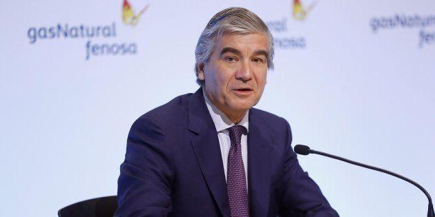 El presidente de Gas Natural Fenosa, Francisco Reynés, durante su intervención previa a la Junta General...