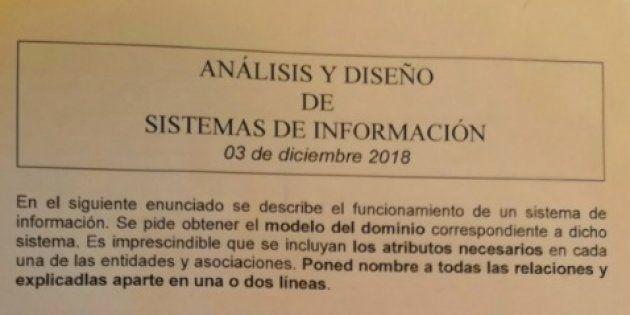 Examen de Análisis y diseño de sistemas de información de Mikel