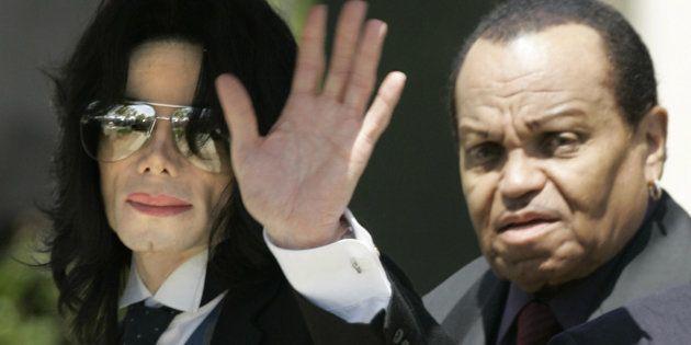 Michael y Joe Jackson, en junio de