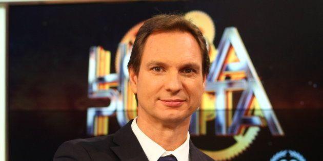 El presentador Javier Cárdenas durante la presentación del programa 'Hora Punta' en Barcelona el 7 de...