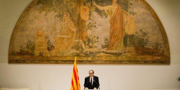El presidente de la Generalitat de Cataluña, Quim