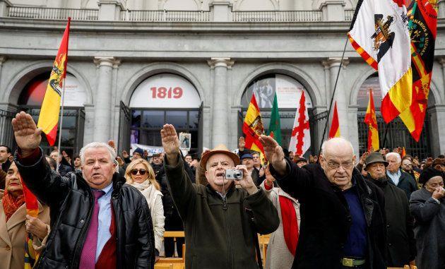 Defensores del dictador Franco en
