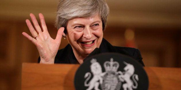 Theresa May, el pasado 15 de noviembre durante una rueda de prensa en