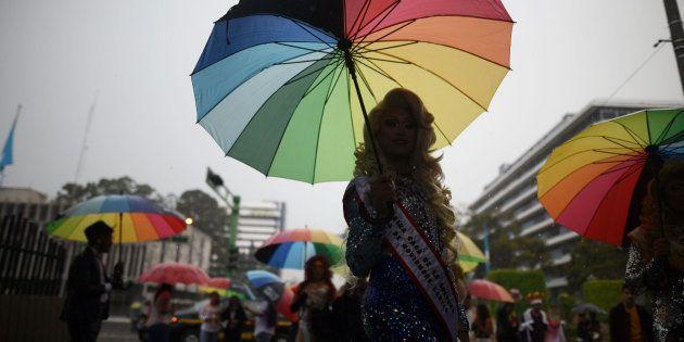 Marcha por la igualdad y la exigencia al fin de la discriminación sexual y la homofobia en Guatemala...