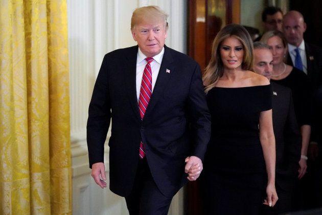 El matrimonio Trump en la Casa