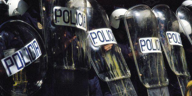 Un grupo de antidisturbios, en una imagen de
