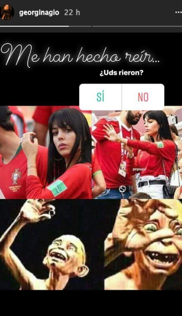 Georgina Rodríguez se ríe de que la comparen con Gollum, de 'El señor de los