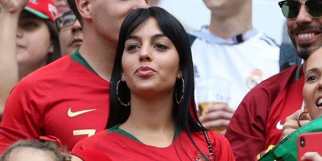 Georgina Rodriguez, novia de Cristiano Ronaldo, en el partido del 20 de junio