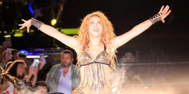 La cantante colombiana Shakira en un concierto
