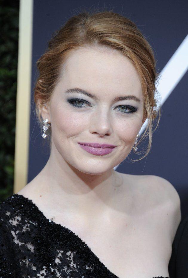 El mensaje feminista que escondía el maquillaje de Emma Stone en los Globos de