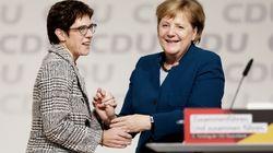 La CDU elige a la centrista Kramp-Karrenbauer como sucesora de