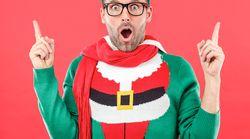 Papá Noel, Jesús y un cartón de agua: la desconcertante sudadera de Navidad que venden en