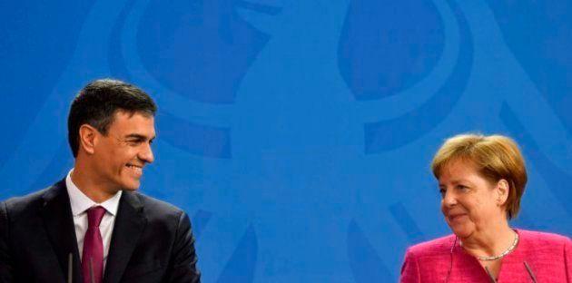 Sánchez y Merkel este