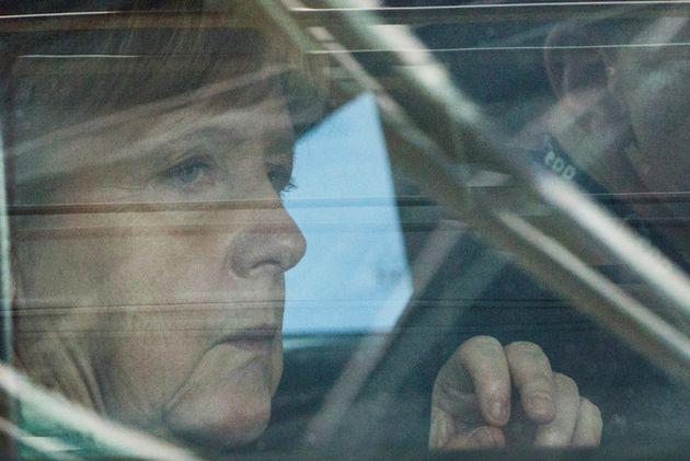 La canciller alemana Angela Merkel llega a la Cumbre de Bruselas el 28 de