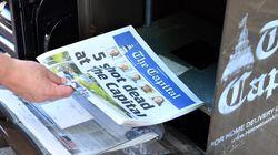 El periódico 'The Capital' sale a la calle el día después del