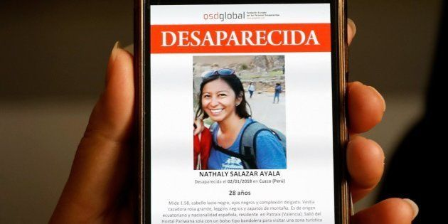 Imagen de Nathaly Salazar, la joven española desaparecida desde el pasado 1 de enero en