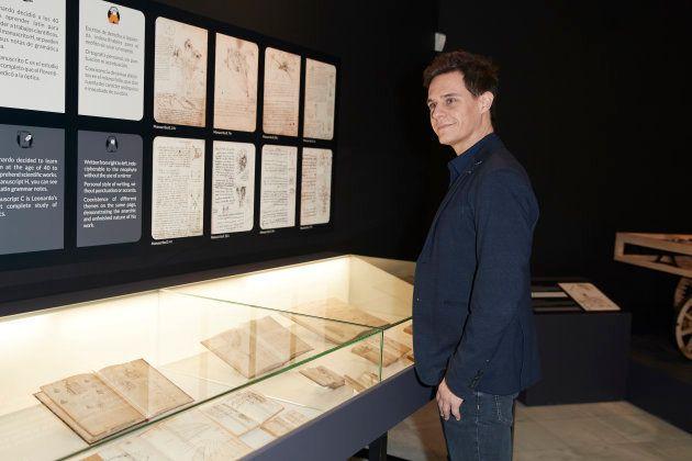 Christian Galvez durante la presentación de la exposición sobre Leonardo Da Vinci 'Los Rostros del Genio',...