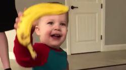 Un niño recibe un plátano de regalo... y le