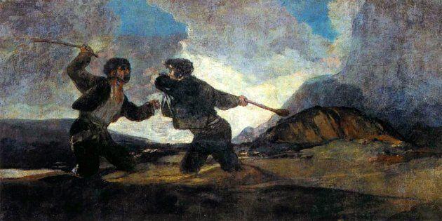 'Duelo a garrotazos' (Goya), un referente icónico de las 'dos